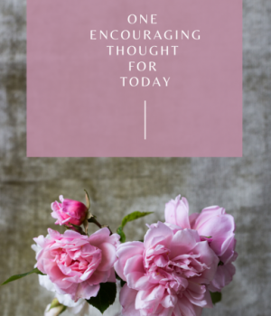 One encouraging thought for today